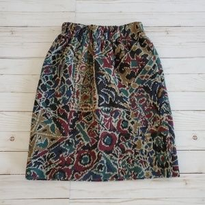 VINTAGE MISSONI Patterned Wool Skirt Size Small
